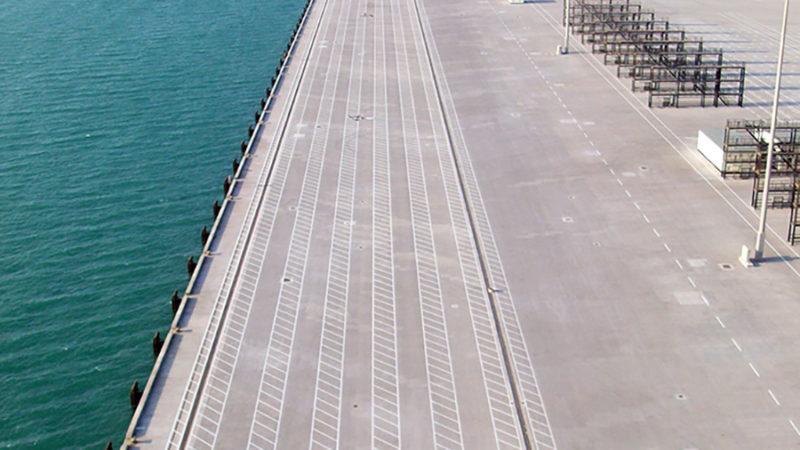 port pavement marking
