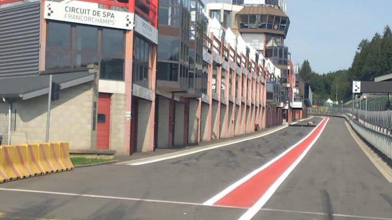 Circuit de Spa line marking