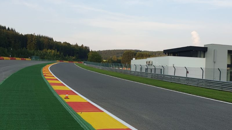 F1 track markings Spa Belgium