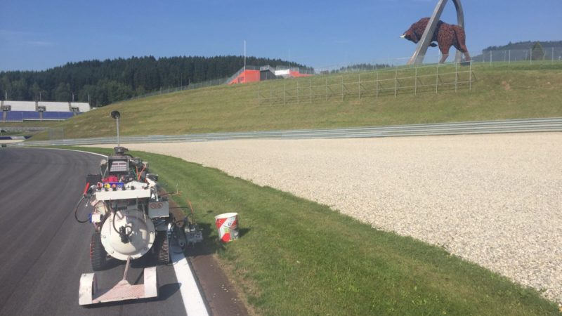 Line Painting Red Bull Ring
