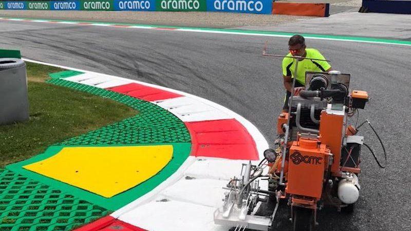 Motorsport circuit painting roadgrip