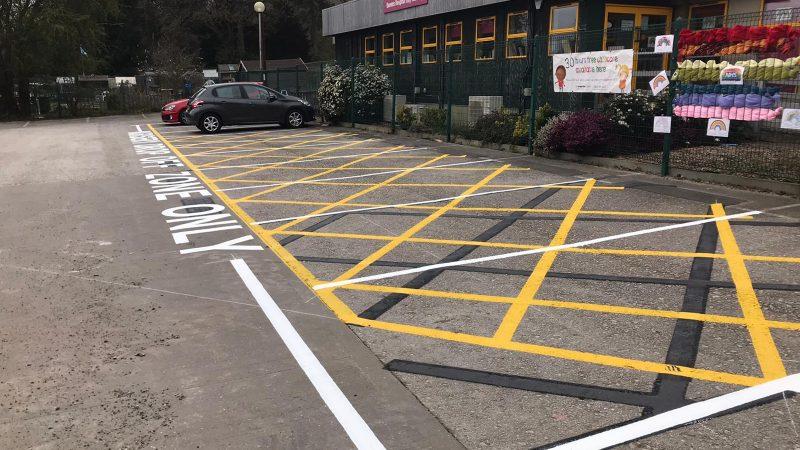 NHS car park marking