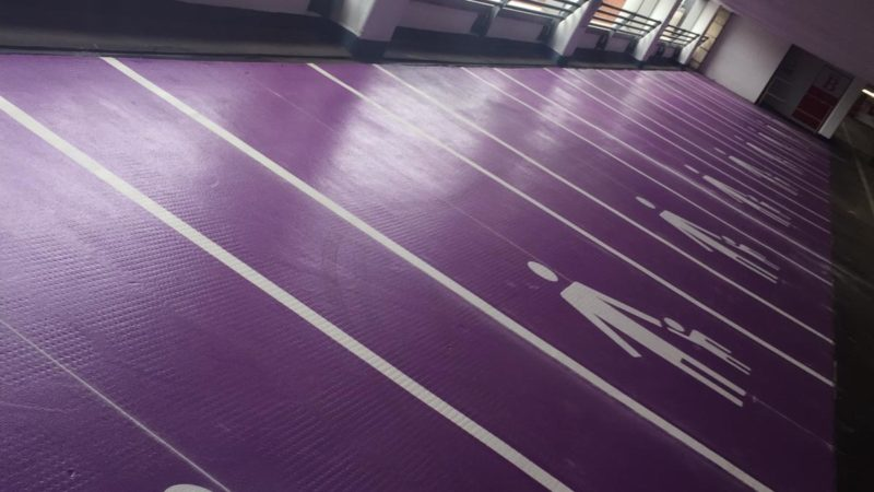 car park resin flooring purple