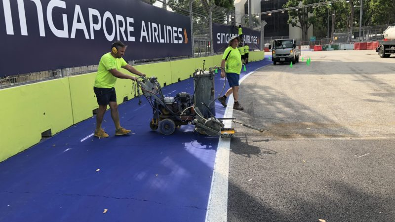 Road Marking Singapore Motorsport