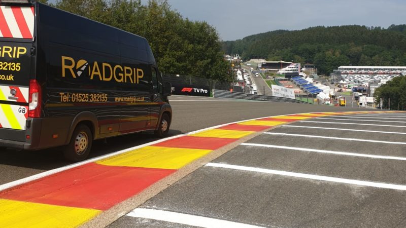 Roadgrip track marking Spa Belgium