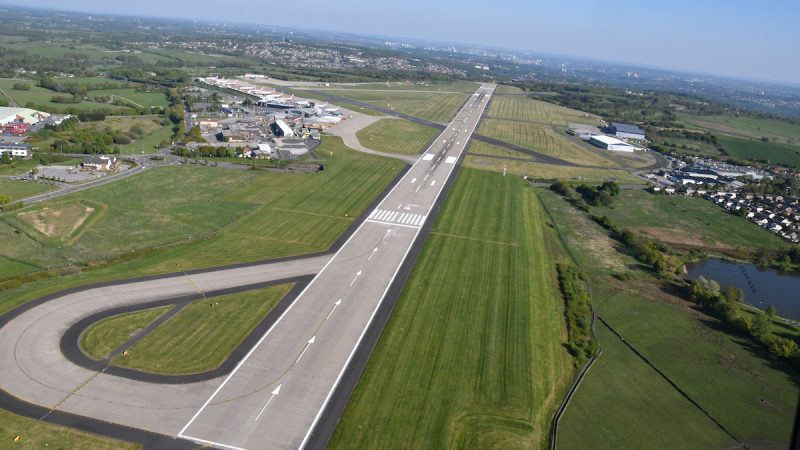 Runway markings roadgrip aerial