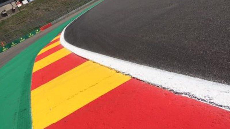 Spa Belgium Track Painting