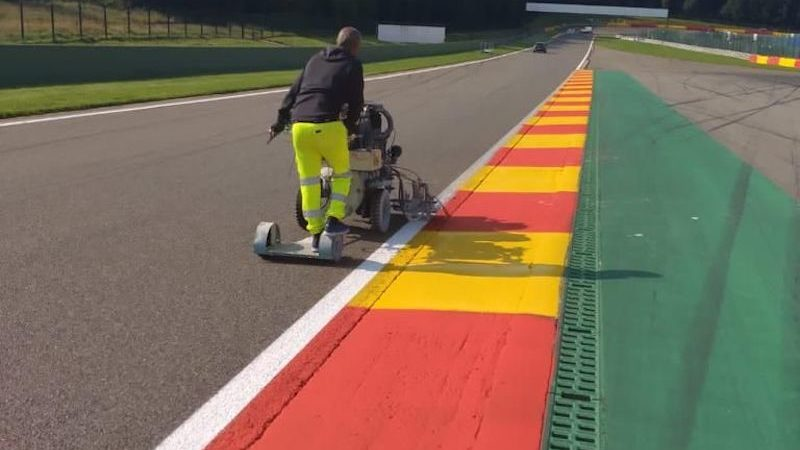 Track Marking Spa F1 Roadgrip