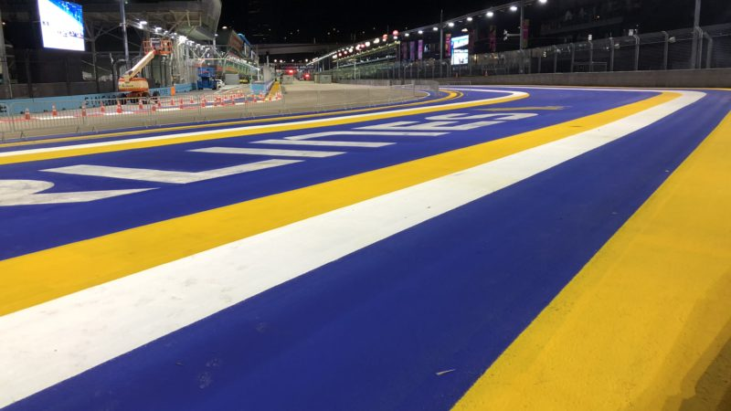 Track Markings Singapore GP