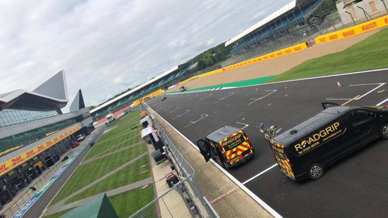 Track painting F1 Grand Prix Silverstone
