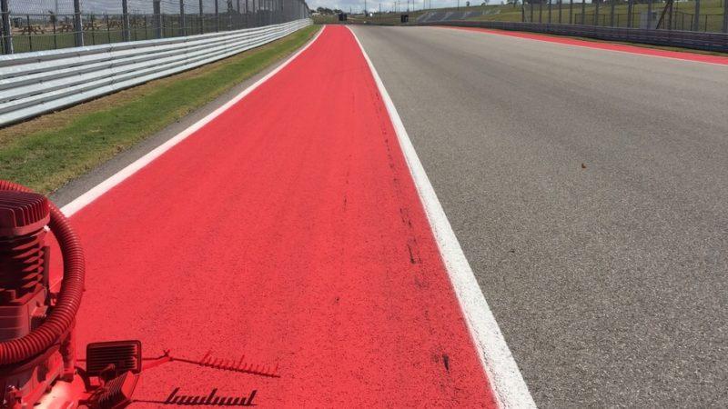 Track painting US GP Austin