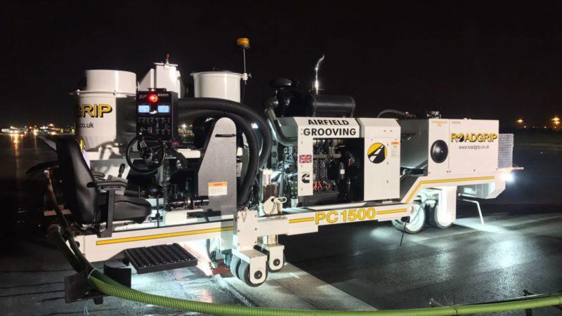 airfield grooving machine