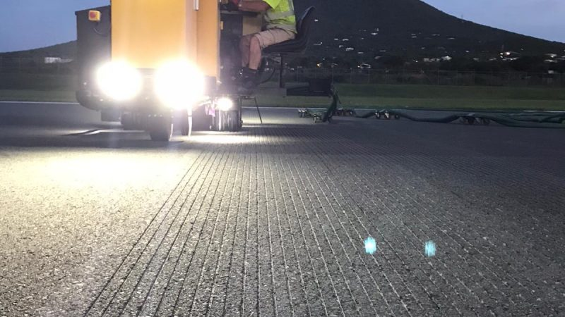 airfield grooving at night roadgrip