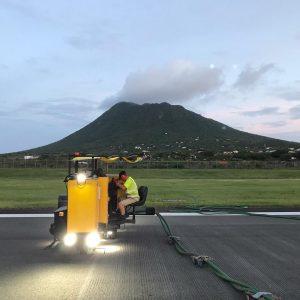 airfield grooving eustatius
