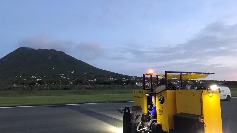 airfield grooving machine eustatius