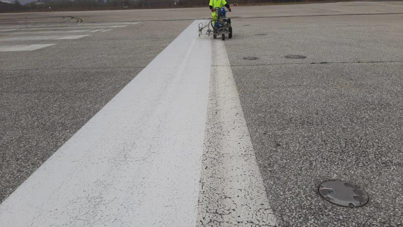 airfield line marking refresh macedonia
