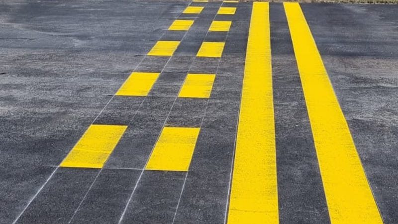airfield line marking roadgrip caribbean