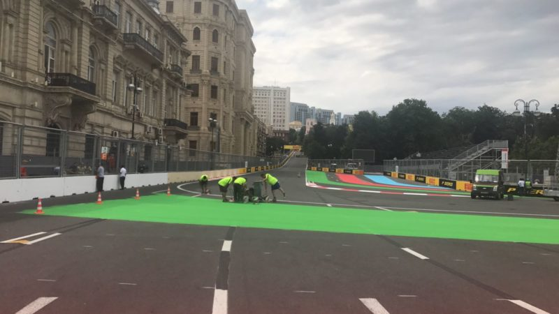 baku street circuit roadgrip