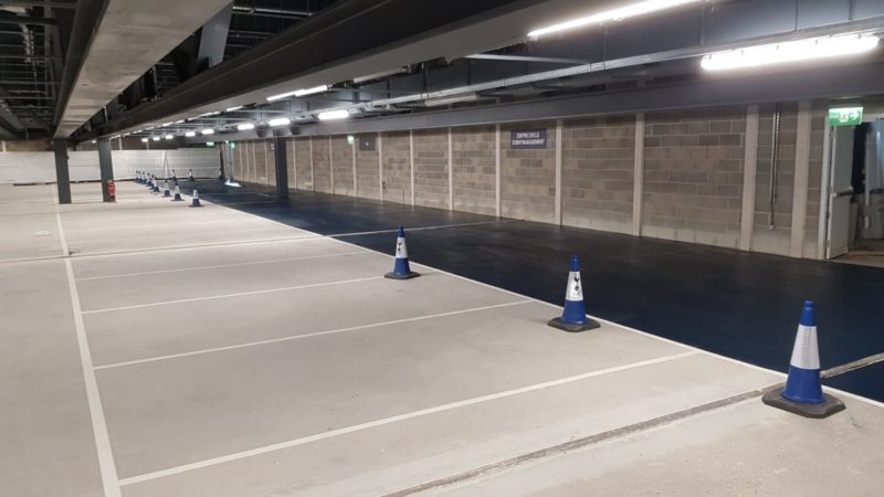blue car park marking