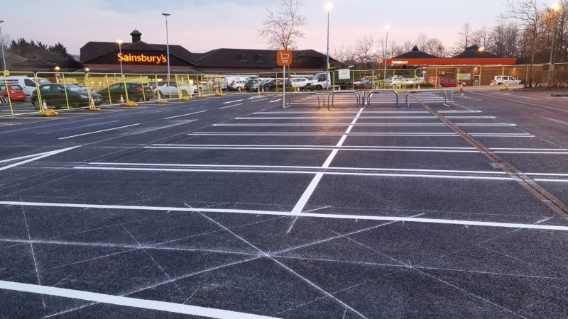 car park bay marking supermarket