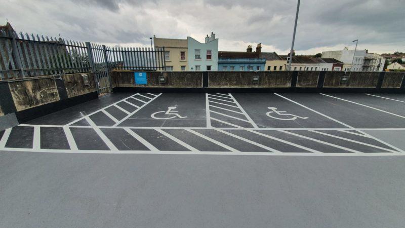 car park markings isle of wight hastings