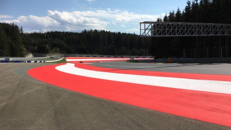 circuit marking Austria MotoGP
