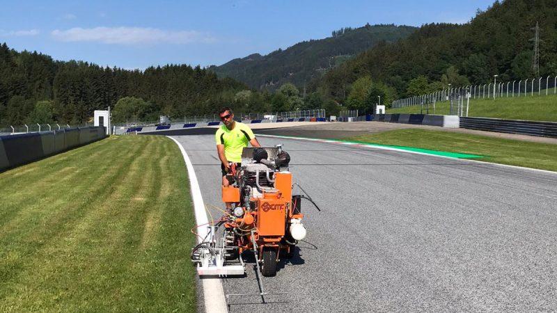 circuit marking red Bull F1 2020