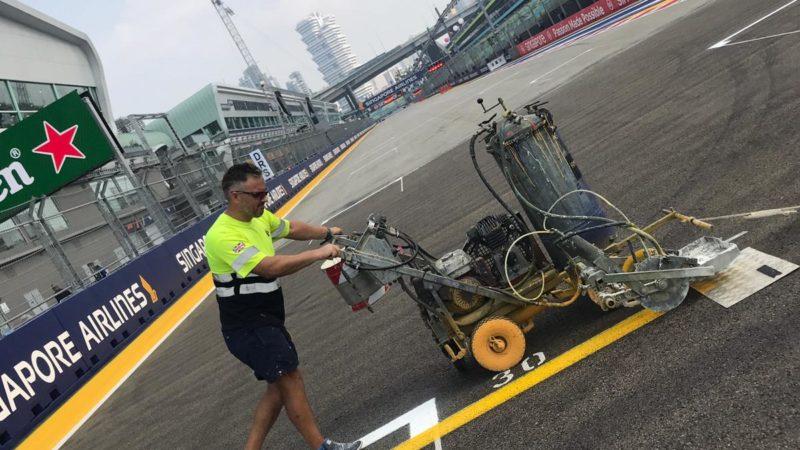 circuit markings motorsport F1