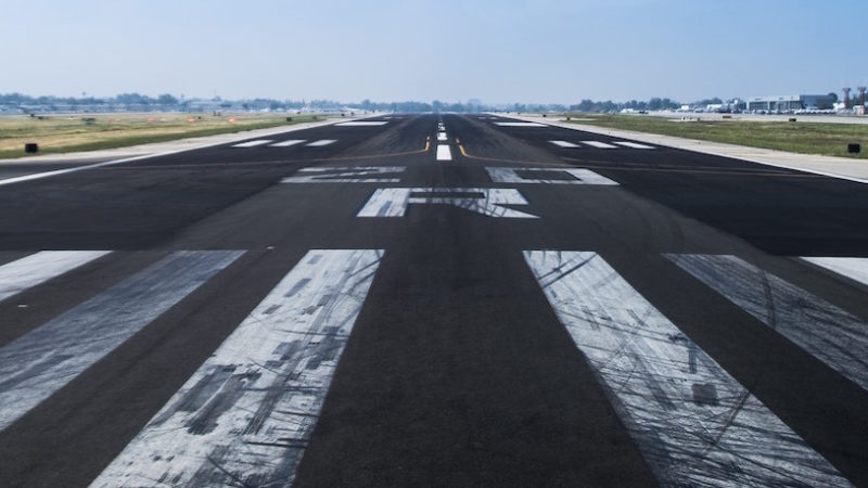 dirty runway markings