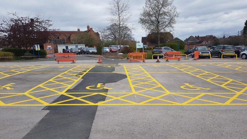 disabled bay marking hospital