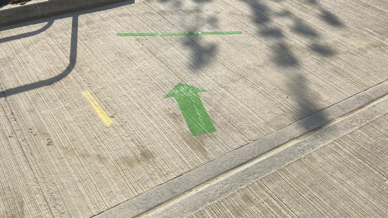 distance markers line marking