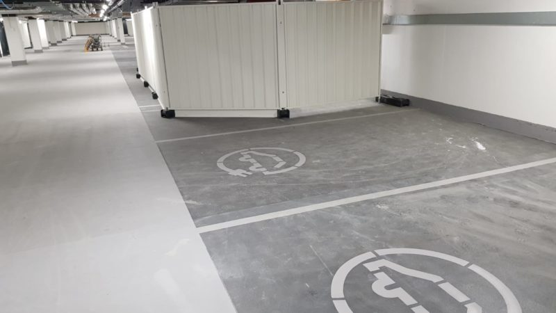 electric vehicle charging bay