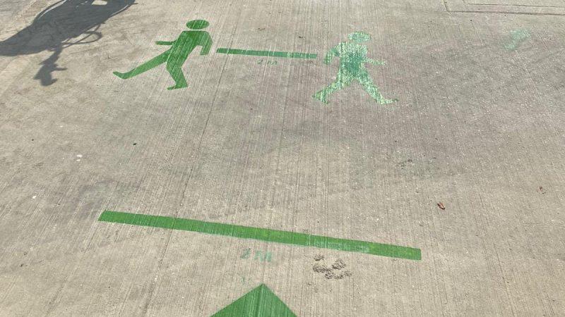 floor distance markers