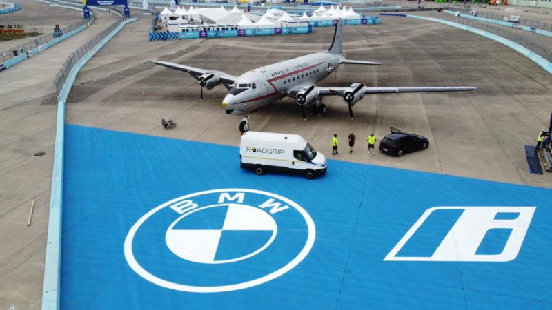 formula e berlin roadgrip bmw sponsorship track painting