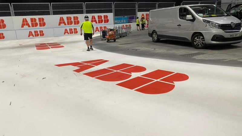 ground logo painting roadgrip