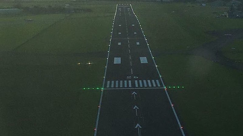 high friction paint on Cotswold runway