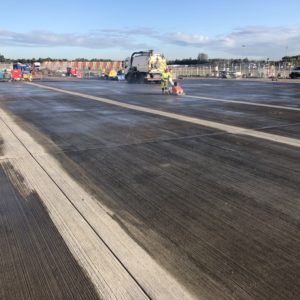 joint sealing and saw cutting at airport hangar gatwick