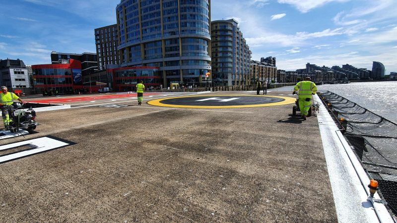 line marking contractor helipad roadgrip