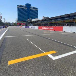 line marking F1 Baku