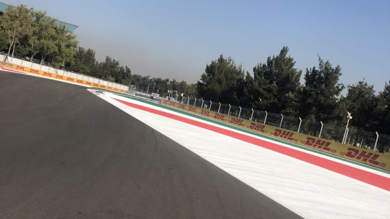 line marking F1 Mexico City GP