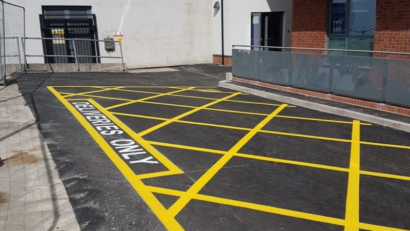 line marking delivery area