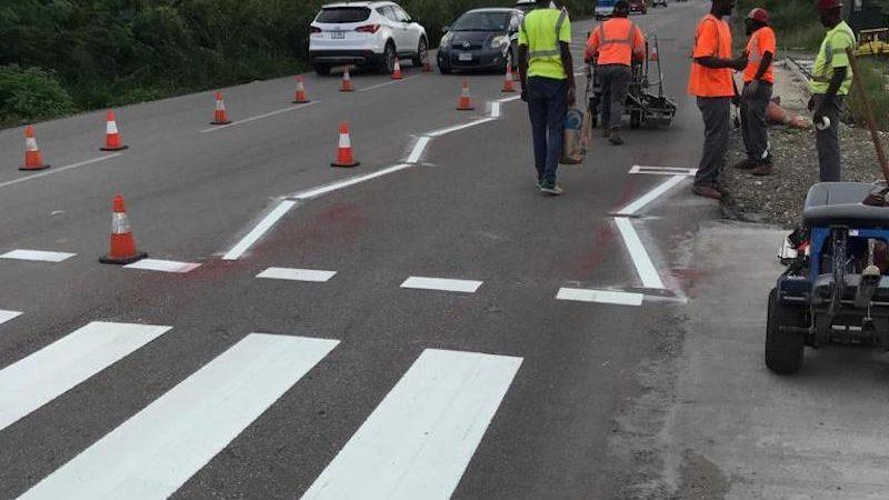 line marking pedestrian crossing