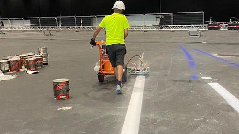 line painting excel roadgrip