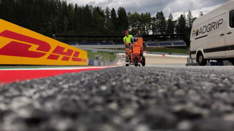 line painting roadgrip motorsport