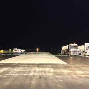 airfield grooving at night