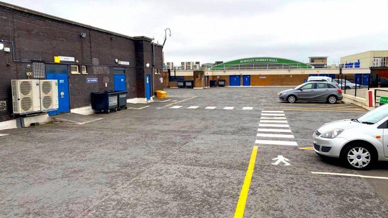 pedestrian markings car park