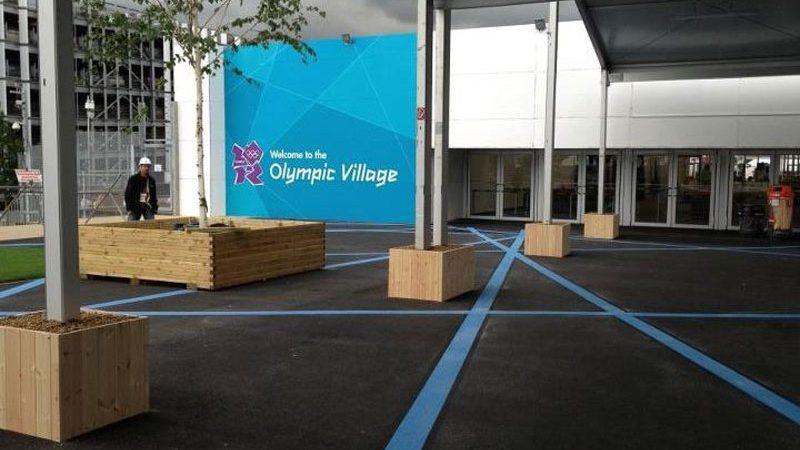 line painting olympics