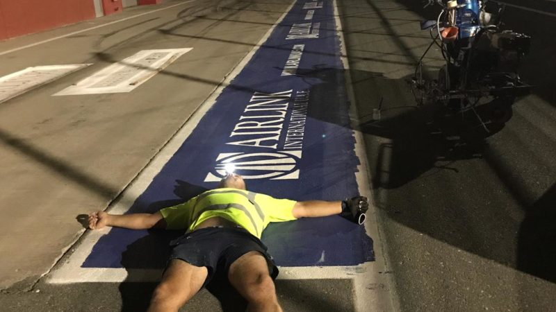 pit lane marking