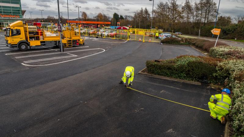 road marking sainsburys