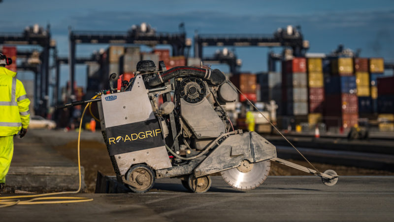 roadgrip saw cutting felixstowe port